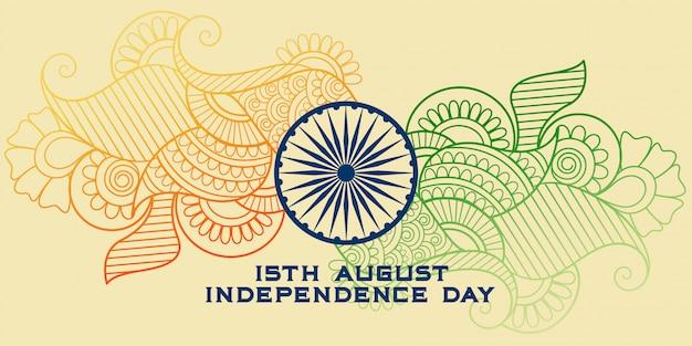 Bandera india creativa en estilo paisley