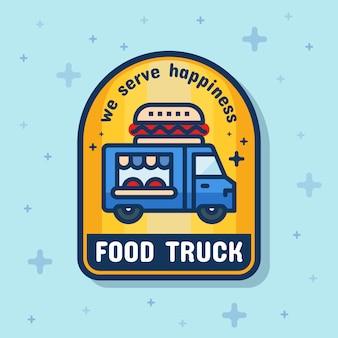 Bandera de la insignia de servicio de camiones de comida