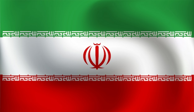 Bandera de irán - ilustración vectorial
