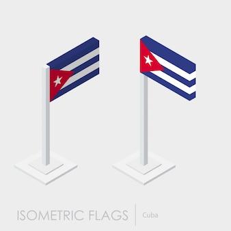 Bandera isométrica de cuba