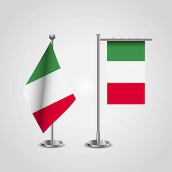 Bandera de italia con vector de diseño creativo