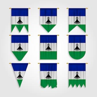Bandera de lesotho en diferentes formas, bandera de lesotho en varias formas