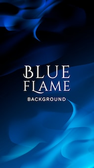 Bandera de llama azul