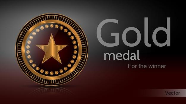 Bandera de medalla de oro