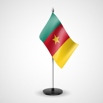 Bandera de mesa de camerún