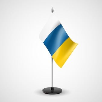Bandera de mesa de canarias