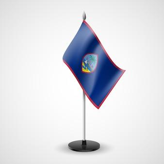 Bandera de mesa de guam