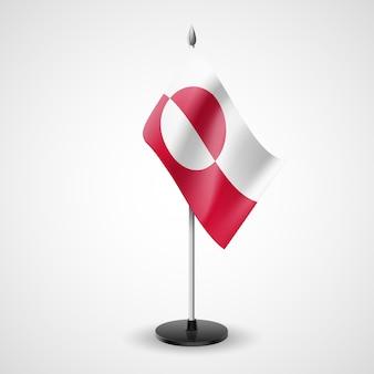 Bandera de mesa de la ilustración de groenlandia