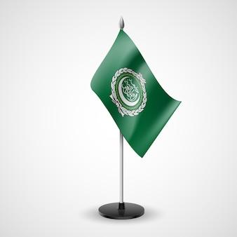 Bandera de mesa de la liga árabe