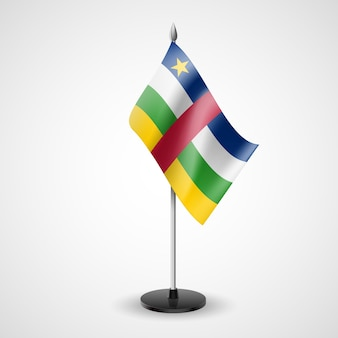 Bandera de mesa de república centroafricana