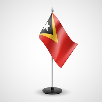 Bandera de mesa de timor oriental
