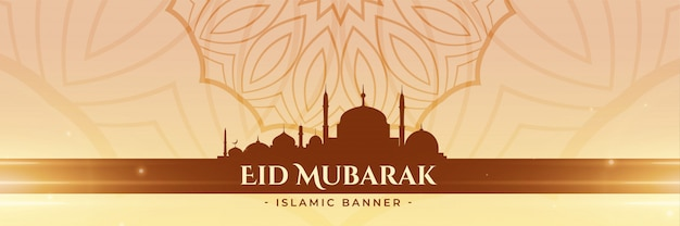 Bandera de la mezquita de adoración festival eid