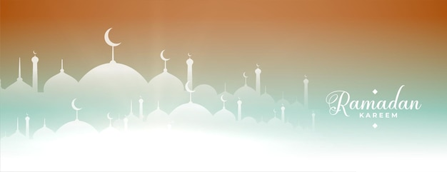 Bandera de la mezquita de ramadan kareem