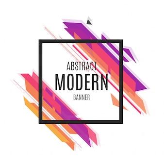Bandera moderna abstracta colorida