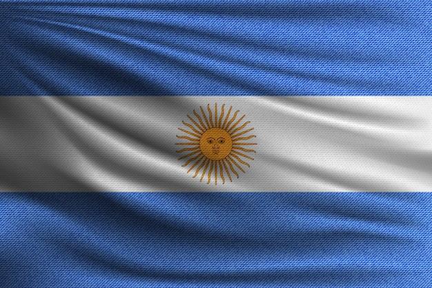 La bandera nacional de argentina.