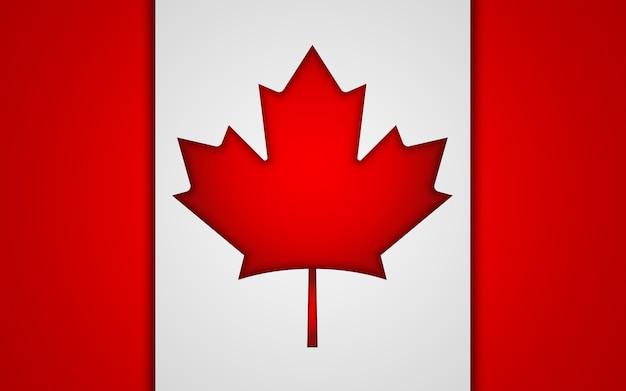 Bandera nacional de canadá.