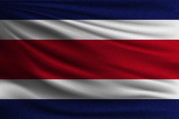 La bandera nacional de costa rica.