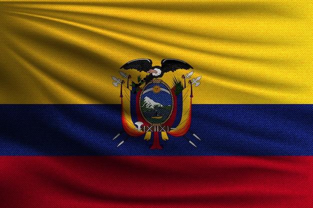 La bandera nacional de ecuador.