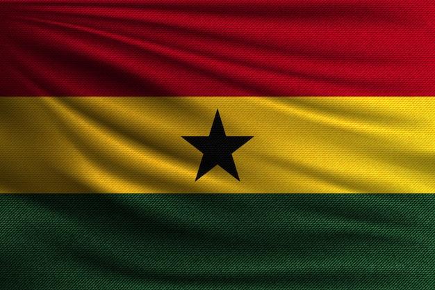 La bandera nacional de ghana.