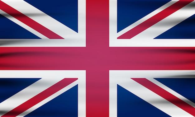 La bandera nacional de gran bretaña