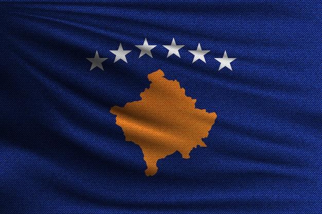 La bandera nacional de kosovo.
