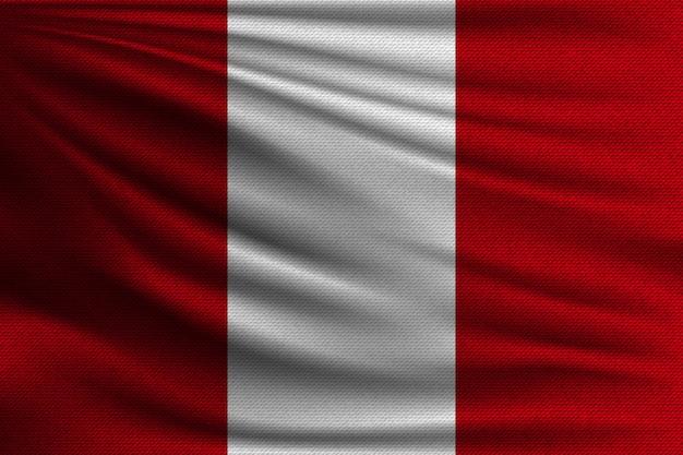 La bandera nacional del perú.