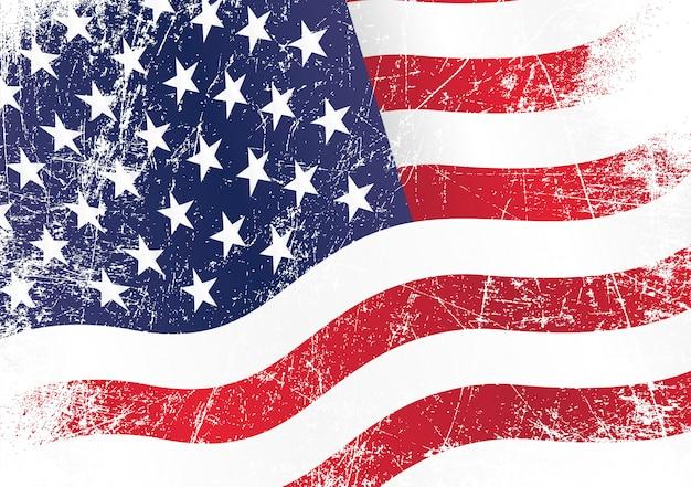 Bandera ondulada de estados unidos