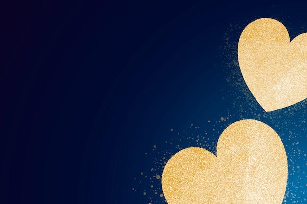 Bandera de oro del corazón