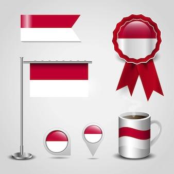 Bandera de país de indonesia
