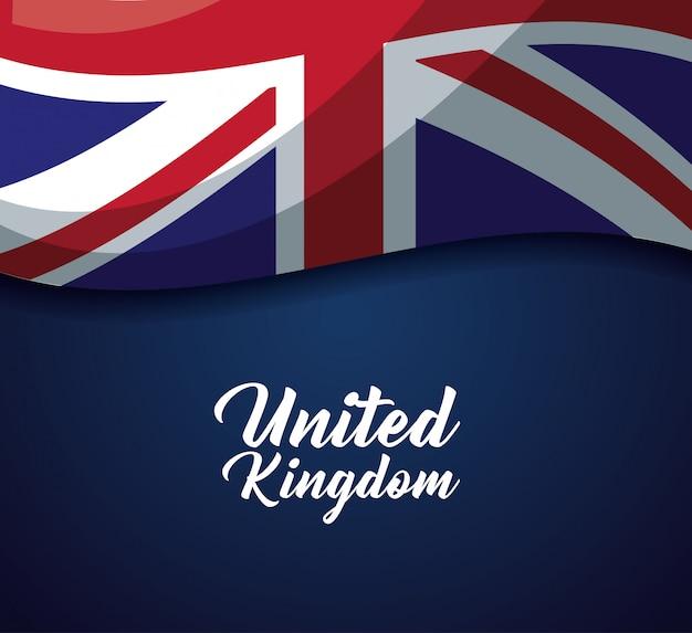 Bandera del país del reino unido
