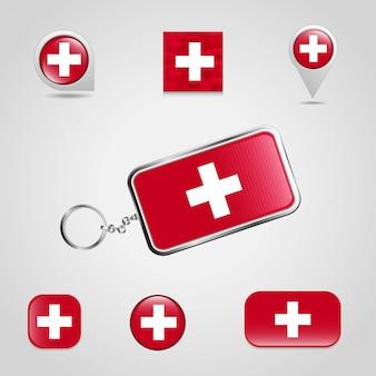 Bandera del país suiza