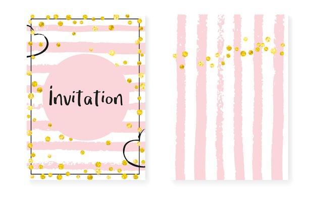 Bandera de polvo de oro. invitación de carnaval de rayas. conjunto de ilustración de 14 de febrero. folleto de moda rosa. fondo de pantalla de rose holiday. oferta negra. arte dorado de la marca. bandera de polvo de oro rosa