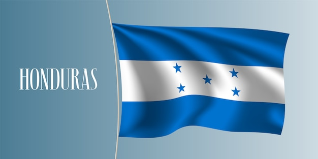 Bandera que agita de honduras
