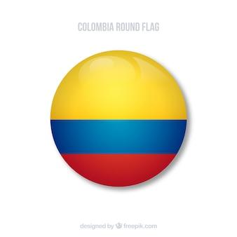 Bandera redonda de colombia