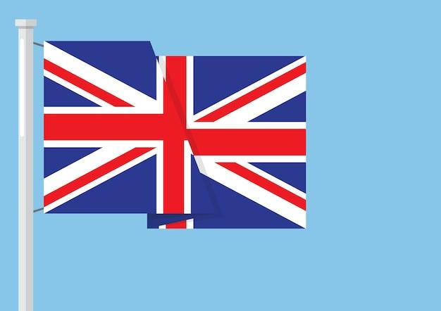 Bandera del reino unido con copyspace