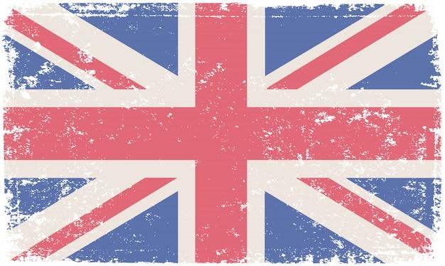 Bandera de reino unido en estilo grunge