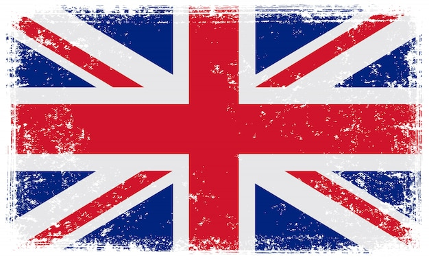 Bandera del reino unido grunge