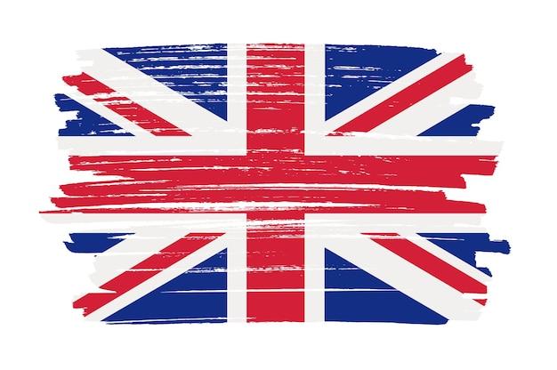 Bandera del reino unido de trazo de pincel