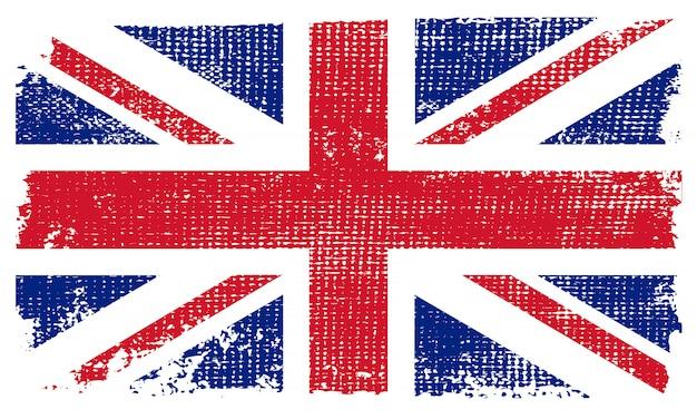 Bandera del reino unido de la vendimia