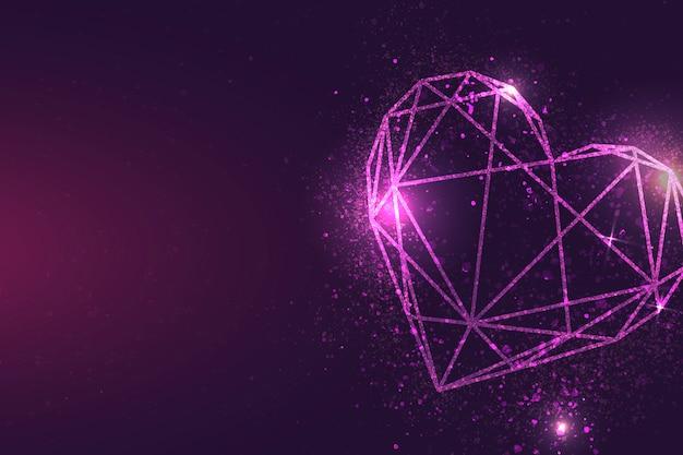 Bandera rosada del corazón