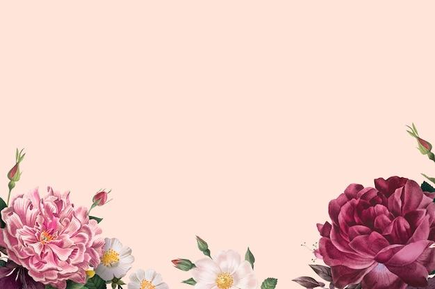 Bandera de rosas florecientes