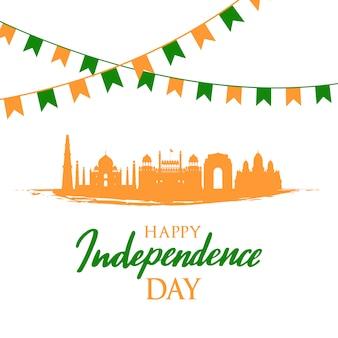 Bandera de saludo con hitos indios.