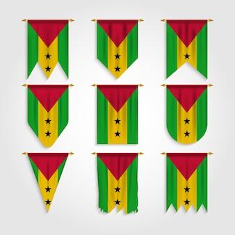 Bandera de santo tomé en diferentes formas, bandera de santo tomé en varias formas