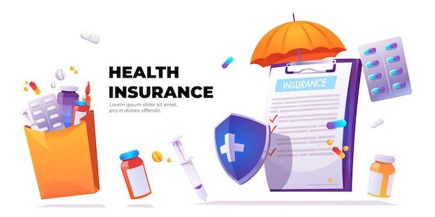 Bandera del servicio de seguro de salud