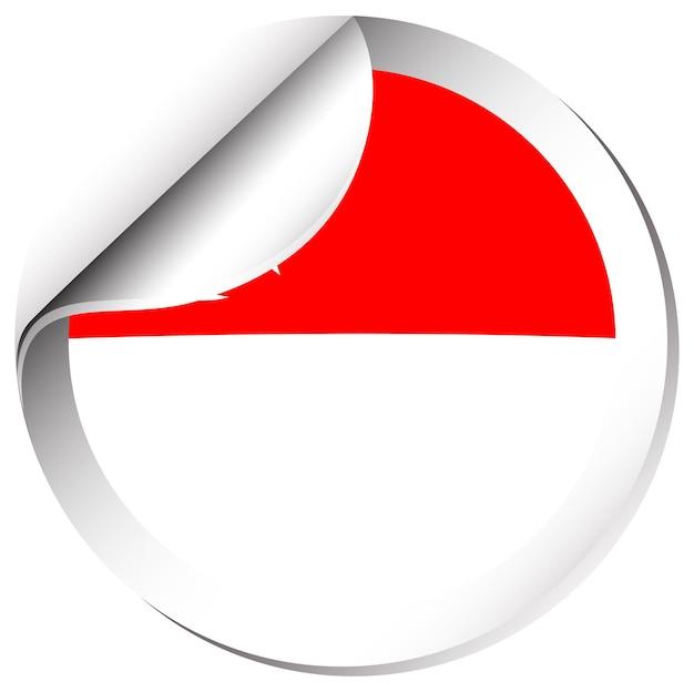 Bandera de singapur en diseño de etiqueta