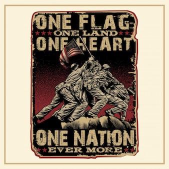 Una bandera, una tierra, un corazón, una nación