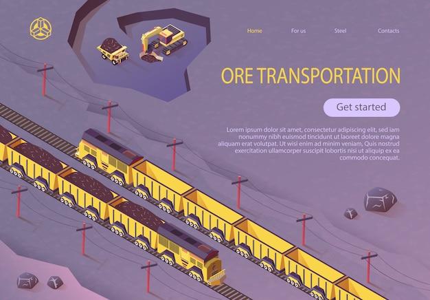 Bandera de transporte de mineral para la industria de las minas de carbón