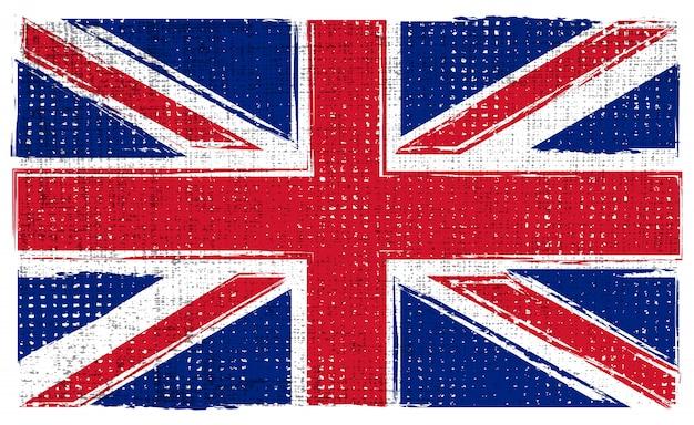 Bandera de uk grunge