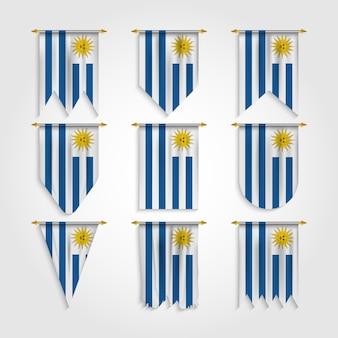 Bandera de uruguay en varias formas