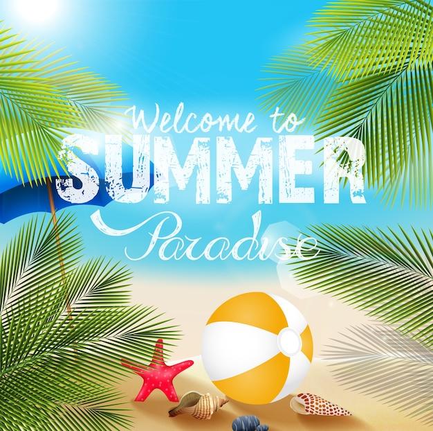 Bandera de vacaciones de verano